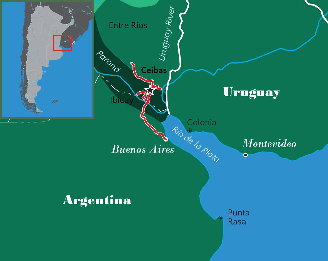Buenos Días Birding - World map parana river